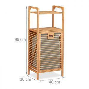 Bambusregal<br>mit Wäschekorb