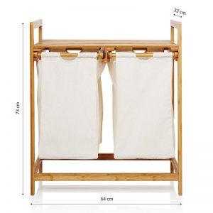 Wäschekorb<br>Bambusregal