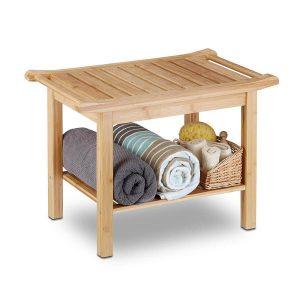 Bambusregal<br>und Sitzbank