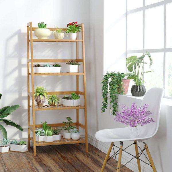 bambusregal wohnzimmer