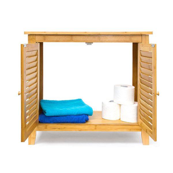 waschbeckenunterschrank bambus